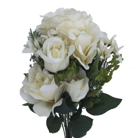 Buquê de Rosas Brancas c/ Botão