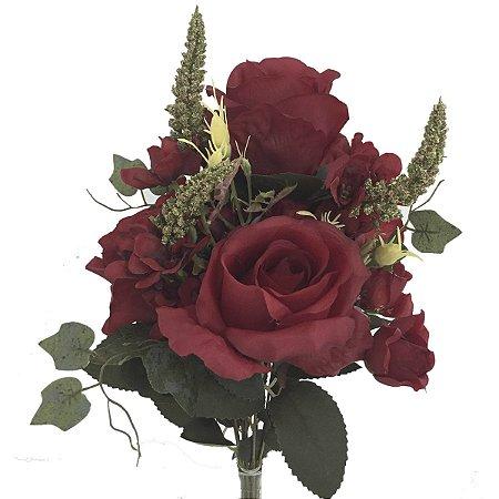 Buquê de Rosas Vermelhas c/ Boca de Leão