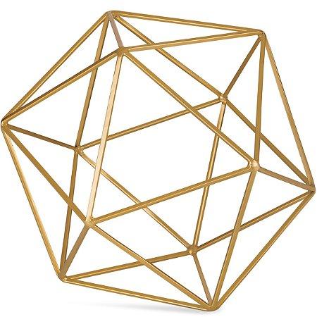 Forma Geométrica Dourada 23cm