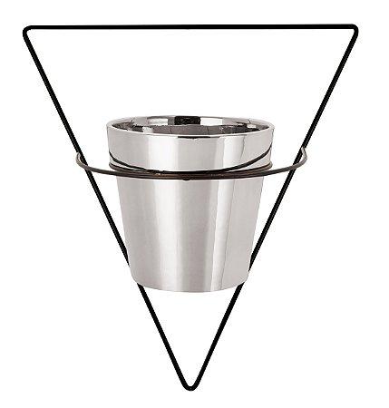 Vaso Prata 10cm c/ suporte