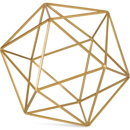 Forma Geométrica Dourada 19cm