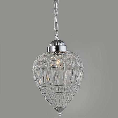 Pendente Cristal Transparente 37cm