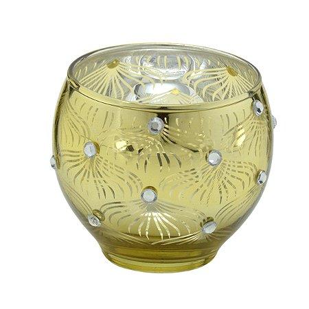 Candelabro vidro Dourado 7cm