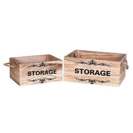 Jogo 2 caixas decorativas Storage