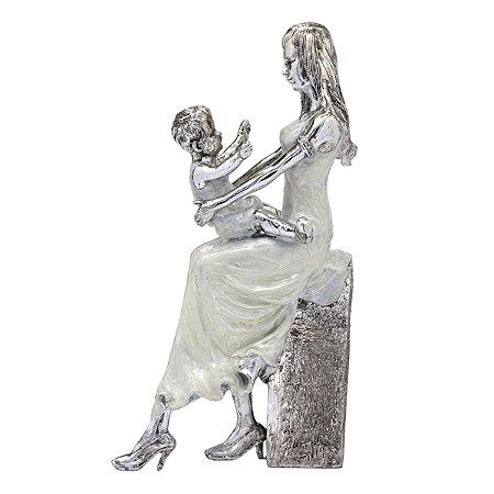 Mãe e Filho Decorativo 31cm