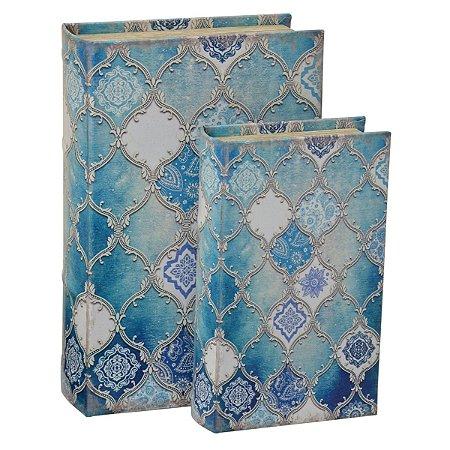 Jogo 2 Caixas Livro Azul