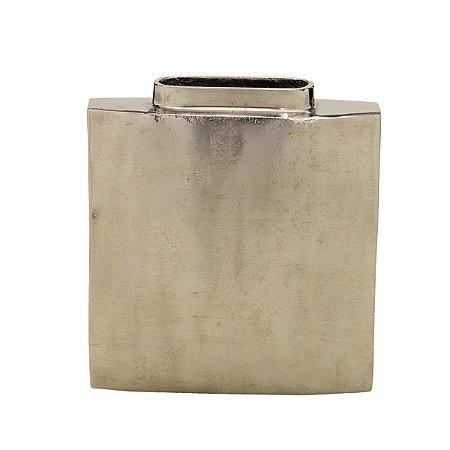 Vaso Metal Prata 22cm