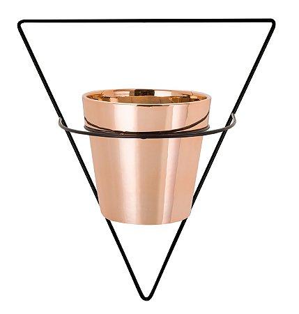 Vaso Rose Gold 10cm c/ suporte