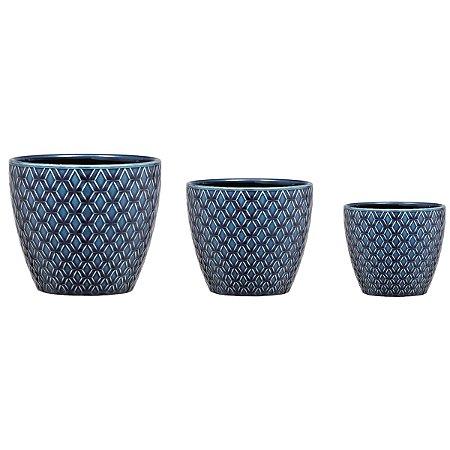 Kit Cachepot Azul