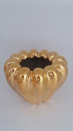 Vaso Esmeralda G - Ouro