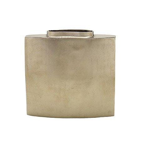 Vaso Metal Prata 29cm