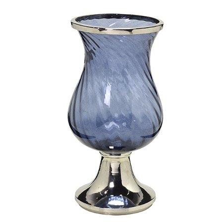Candelabro Vidro Azul
