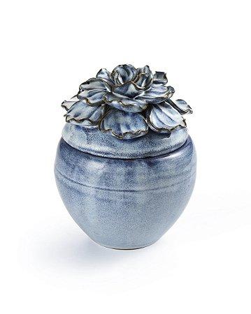 Pote Flor Azul 12,5cm