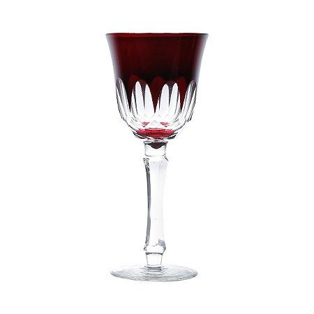 Conjunto 6 taças p/ vinho tinto Aurora vermelho 250ml