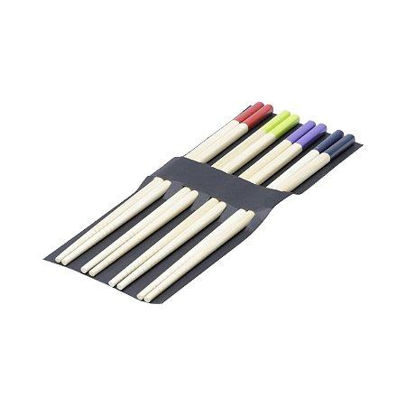 Conjunto 4 pares de hashi colorido
