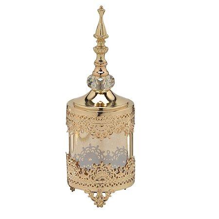 Pote Decorativo Dourado 30cm