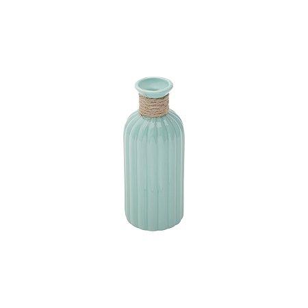 Vaso de cerâmica india verde claro 15cm