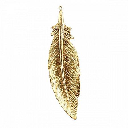 Pena Decorativa Dourada 19,5cm