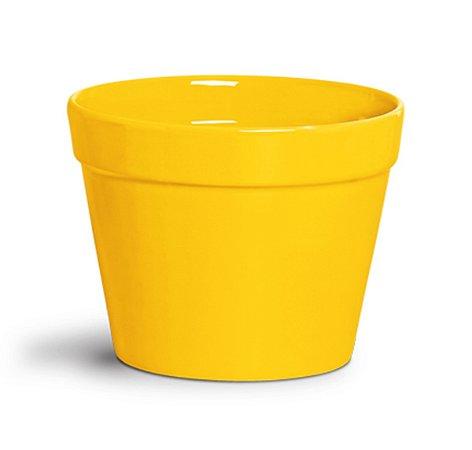 Cachepot amarelo 20cm