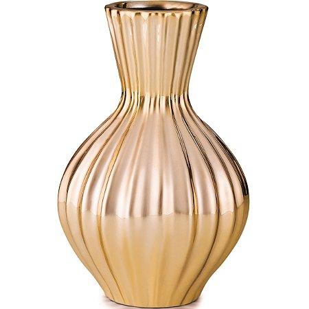 Vaso Dourado 16,5cm