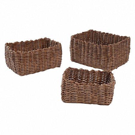 Conjunto de cestos - 3 peças