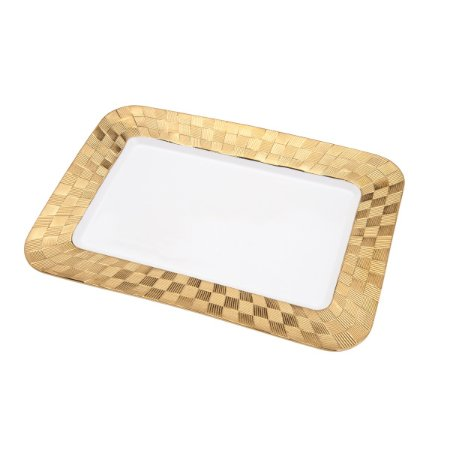 Travessa Vera Gold 33,5x23cm