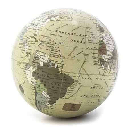 Bola Decorativa Mapa Creme G