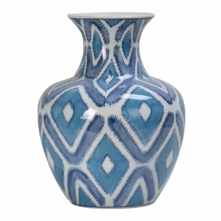 Vaso Geometrica Azul 24cm