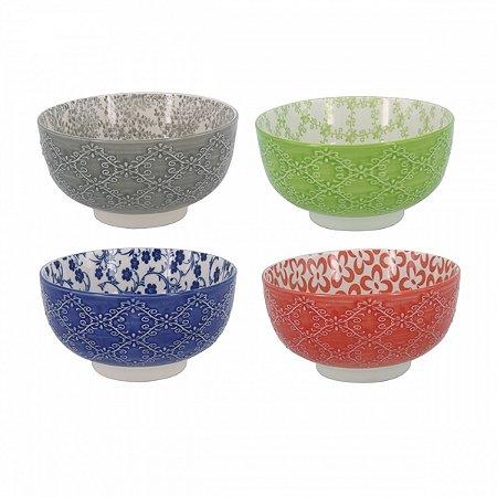 Conjunto de bowls colorido 13,2cm