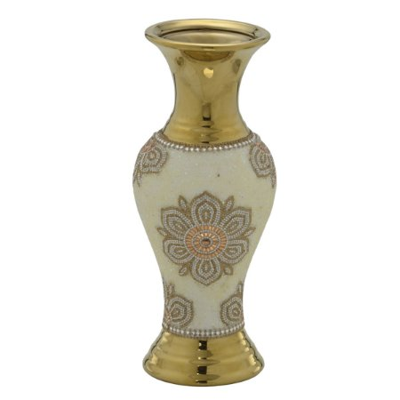 Vaso Decorativo Dourado 32cm
