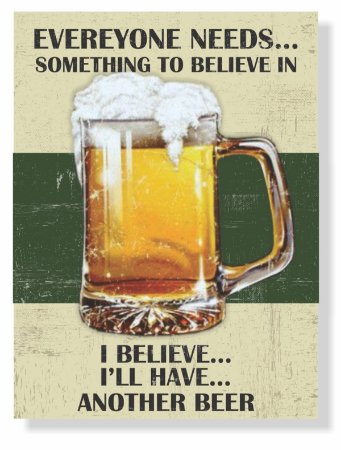 Placa Another Beer
