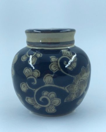 Pote Decorativo Cobalto Floral