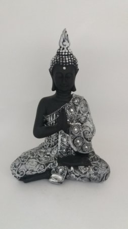 Buda Decorativo Sentado P Preto