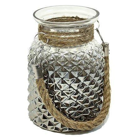 Vaso de Vidro c/ Alça 21cm