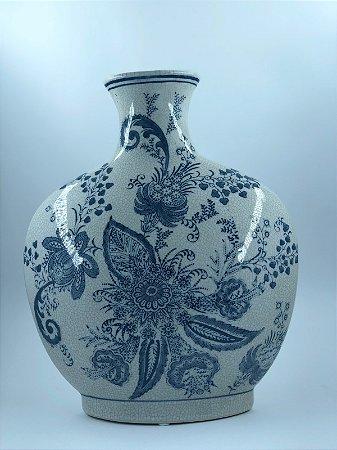 Vaso decorativo Azul e Branco