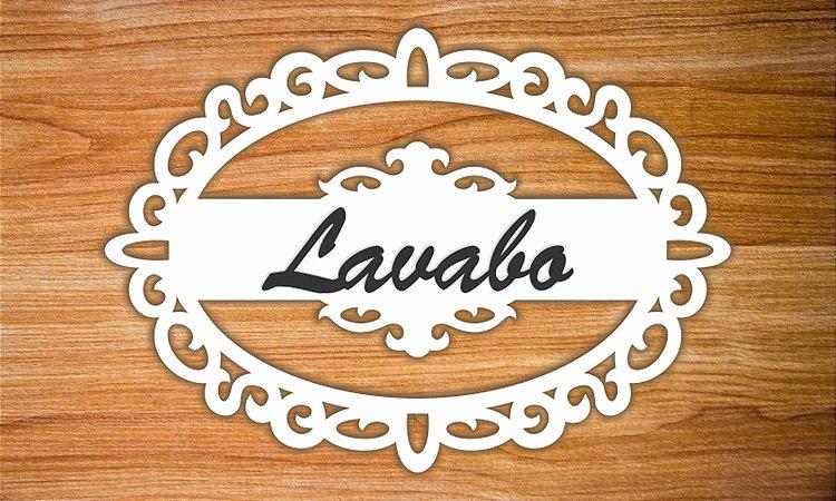 Placa oval Lavabo