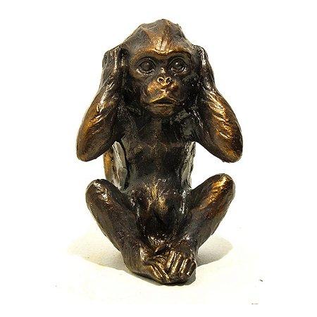 Macaco Decorativo Não Ouço