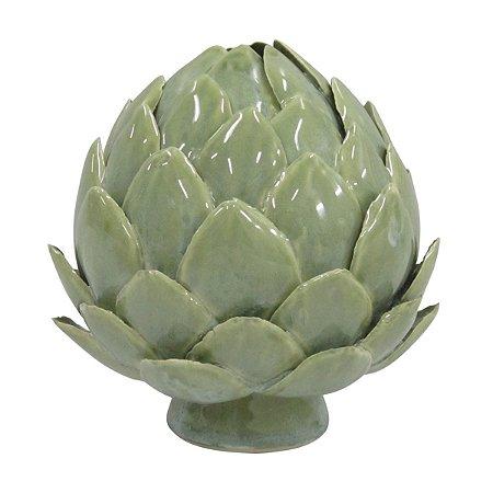 Pinha Verde Decorativa 10cm