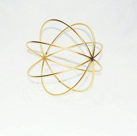 Escultura Bola Dourada 25cm