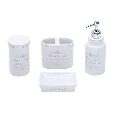 Conjunto p/ Banheiro Royal Branco - 4 peças