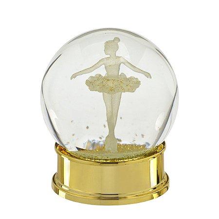 Globo de Água Bailarina Dourado