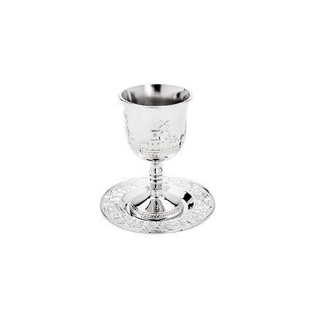Conjunto Taça com Prato Judaico 200ml