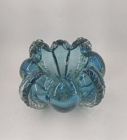 Cachepot Murano Squash Aquamarine