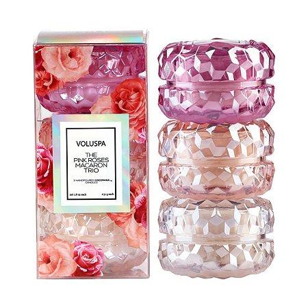 Kit 3 Mini Velas Macaron Roses
