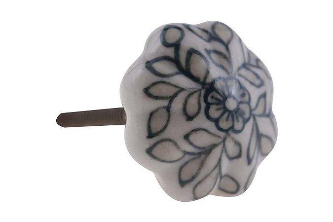 Puxador Porta Cerâmica 3x2cm