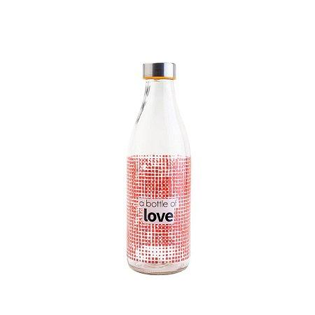 Garrafa Vidro Love 950ml