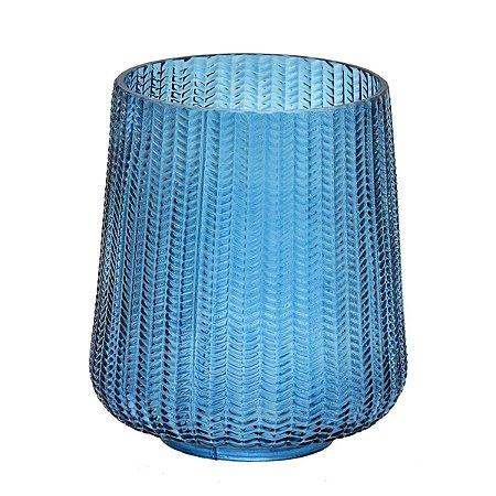 Vaso Vidro Azul 22cm