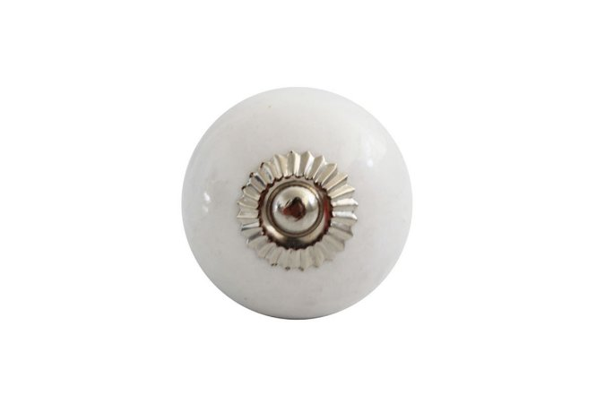 Puxador p/ Porta Cerâmica Branco