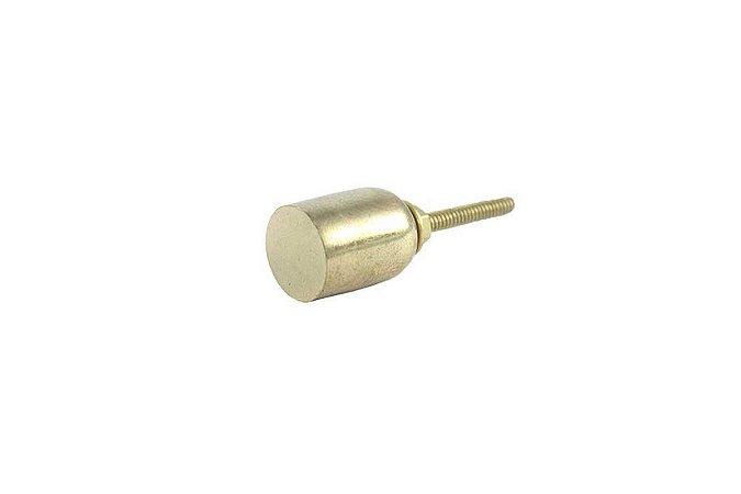 Puxador Metal Cilíndrico Dourado Polido
