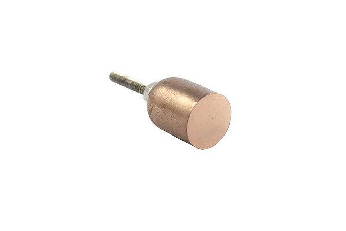 Puxador Metal Cilíndrico Rose Gold Polido